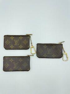 Auth Louis Vuitton Monogram Pochette Cles Set 3pcs M62650 AA-0916