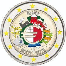 Moneda de Euro de 10 años España 2 Euro 2012 efectivo en color
