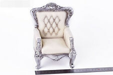 1/6 White Single Sofa Retro Chair Desk Model Collection Fit 12'' Action Figure