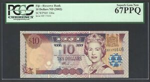 Fiji 10 Dollars ND (2002) P 106a Uncirculated Grade 67