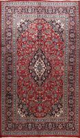 Vintage Traditional Floral Hand-knotted RED Area Rug Wool Oriental Carpet 7'x10'