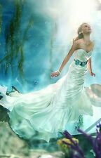 ALFRED ANGELO DISNEY BEYOND THE SEA ARIEL IVORY SZ 6 223 WEDDING GOWN DRESS