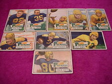 Bowmn Packers Football Card Set 1951 (9 cards) canadeo