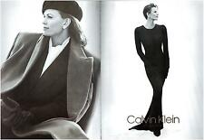 ▬► PUBLICITE ADVERTISING AD Calvin Klein collection 2 pages 1992