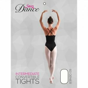 Children's Kids Convertible Ballet Dance Tights Girls 3 Colours 60 Den Ages 3-13