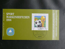 TIMBRES FOOTBALL : ALLEMAGNE CARNET POUR LE SPORT 1994 NEUF