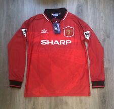 ERIC CANTONA 7 Manchester United Retro Home Football Jersey 1995-1996 shirt UK M