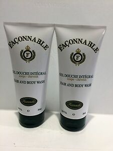 Faconnable Hair & Body Wash By Faconnable 2 x 6.66 fl. oz Brand New 2 Pcs
