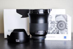 Carl Zeiss Milvus 25mm f/1.4 ZF.2 Lens For Nikon - MINT!