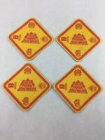 Lot of 4 Red Hook Brewery Seattle Washington Beer Bar Coasters