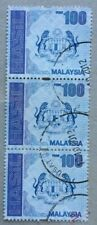 Malaysia Used Revenue Stamps - 3 pcs RM100 Stamp (New Design)