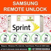 Samsung Galaxy Sprint S8/S8 Plus Note 8 S8+ Remote Unlock Service