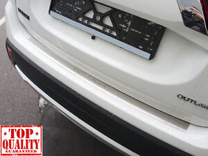 Mitsubishi OUTLANDER 2015- Rear Bumper Profiled Protector Stainless Steel Cover