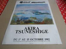 AFFICHE DU PEINTRE AKIRA TSUNESHIGE.1982.GALERIE MITSUKOSHI.PARIS