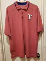 Nike Golf Texas Rangers Legacy Performance Dri Fit Men's Size XL MLB Polo Shirt