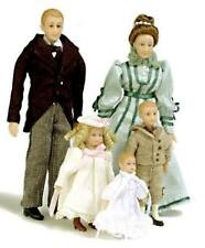 Porcelain Doll Set - Colonial Family by Drummond SD0001 -  1/12 scale miniature
