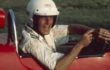 Paul Newman iconic in red racing car original 35mm photo transparency slide