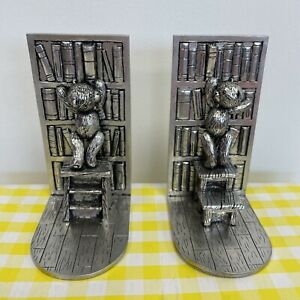 Royal Selangor Pewter Library Bookends Teddy Bear Boxed Christening Gift