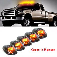 5x Smoked Amber LED Cab Roof Marker Running Lights For Truck SUV Pickup Off Road