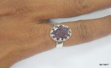 ring cocktail ring handmade sterling silver ring amethyst gemstone