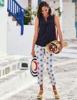 Boden Hose - Al Fresco 7/8 Pants - Damenhose Sommer Muster NEU - UK 6 P EU 32/34