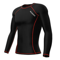 Mens Thermal Cycling Base Layer Jersey Long Sleeve Golf Sport Clothes Tops Shirt