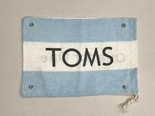 Toms 10 x 7 Kids Blue/ White Stripe Flag Logo Canvas Shoe Dust Travel Bag