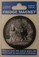 Horse Equestrian Heavy Horses (2) Fridge Magnet  Welsh Slate