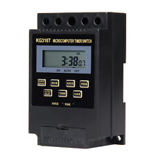 KG316T AC220V Microcomputer Timer Switch Programmable Controller ON/OFF Black