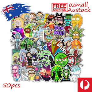 50pcs Rick and Morty 1 Stickers Bomb Adult Swim Vinyl Decal Graffiti Laptop