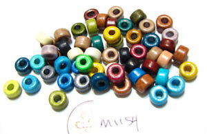 Ceramic Tube Beads COLOR MIXTURE  Lot of 25 M1154