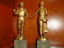 "Schmidt Felling Bronzes (2)  Set 10"" High Perfect condition.ORIGINAL not copies"