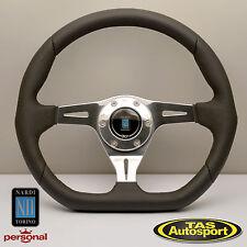 Nardi Steering Wheel KALLISTA Leather Glossy Spokes 350mm 6314.35.3071