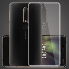 For Nokia 6 (2018) Transparent Clear Silicone Slim Gel Case