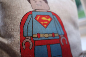Superheroes Lego Superman Batman Spiderman captain America pillow / cushion case