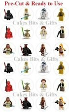 24x LEGO STAR WARS MIX Edible Wafer Cupcake Cake Toppers Pre Cut & Ready to Use.