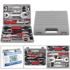44X Bike Bicycle Repair Hand Wrench Multi Function Tool Repair Kit Portable Box