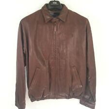 Polo by Ralph Lauren Men's Size M Lamb Brown Leather Bomber Jacket New A1596