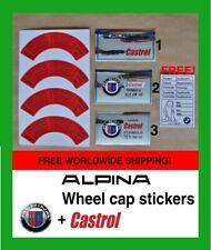 ALPINA wheel cap stickers+Castrol sticker aufkleber engine oil label Radkappe