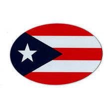 Oval Shaped Magnet - Puerto Rican Flag (Puerto Rico) - Magnetic Bumper Sticker