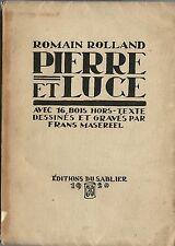 RARE EO N° FRANZ MASEREEL + ROMAIN ROLLAND :  PIERRE ET LUCE ( 16 BOIS GRAVÉS )
