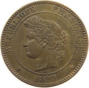FRANCE 10 CENTIMES 1890 TOP #t77 497