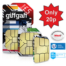 giffgaff giff gaff SIM Card - O2 Network -  FREE £5 Credit Unlimited Data Calls