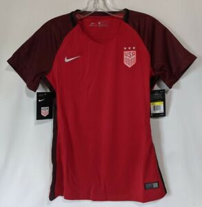 2017 Nike Womens Dri Fit USA Soccer Jersey Red Size Small NWT