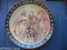 1988 The Angels' Adoration PORCELAIN PLATE BY SULAMITH WULFING KONIGSZELT BAYERN