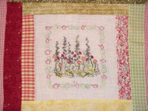 July Poppies Hollyhocks Cross Stitch Pattern Summer Garden Flower Bouquet