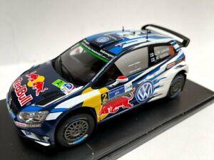 1:24 Volkswagen Polo R WRC Latvala Rally México 2016 Diecast