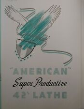 1943 American Super Productive 42 Lathe Radial Shapers Brochure 87