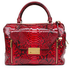 MICHAEL KORS COLLECTION NEW Gia Python Satchel Crimson Red Bag Handbag Purse