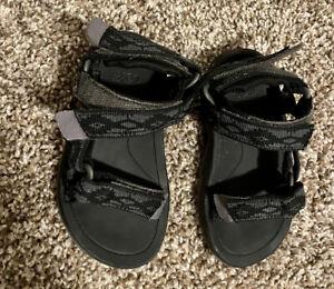 Teva HURRICANE XLT 2 Black Sandals sz 6 Toddlers Gray